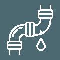 Illustration av vattenläcka